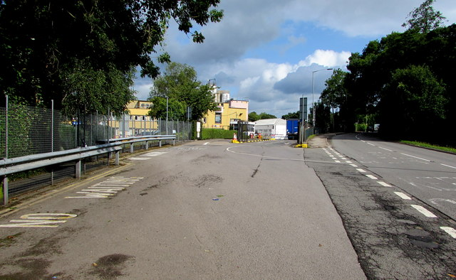 Entrance to the Burton's Biscuits site, Llantarnam, Cwmbran