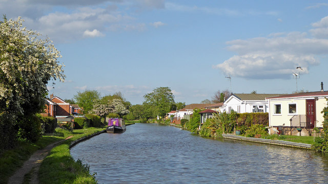 Canal at Penkridge in Staffordshire