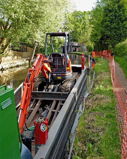 Towpath repairs in Penkridge, Staffordshire