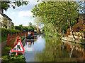 SJ9214 : Canal maintenance in Penkridge, Staffordshire by Roger  Kidd