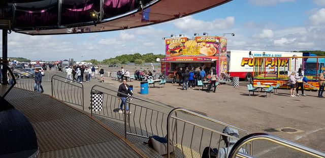 Fun fair at Santa Pod Raceway