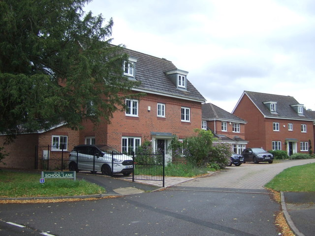 New housing off School Lane, Stafford