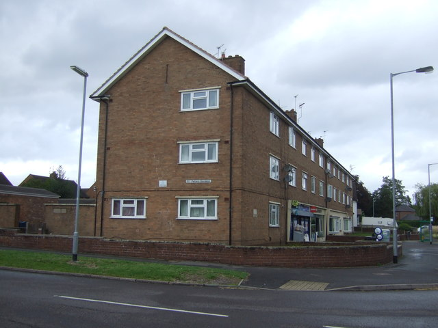 Shops with flats over on Rickerscote Road