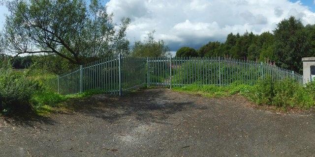 Blocked footpath