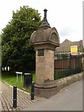 SK5640 : Entrance to Waterloo Promenade, Forest Road West, Nottingham – gate pier by Alan Murray-Rust