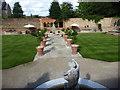 TQ7468 : Part of the formal garden at Restoration House by Marathon
