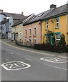 SN3040 : Colourful Bridge Street houses, Newcastle Emlyn  by Jaggery