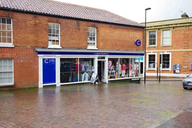 Cancer Research UK charity shop, 26 Market Place, Fakenham, Norfolk