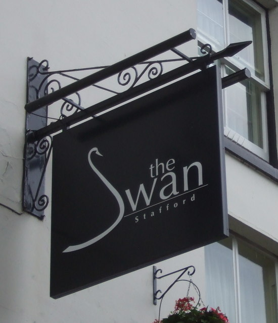 Sign for the Swan Hotel, Stafford