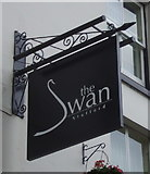 SJ9223 : Sign for the Swan Hotel, Stafford by JThomas
