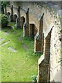 SK5641 : Ramp into the quarry area, Rock or Church Cemetery, Nottingham by Alan Murray-Rust