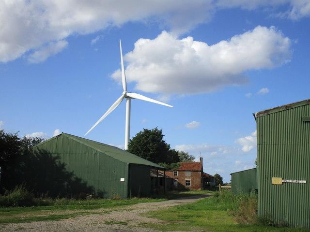 Villa Farm and wind turbine