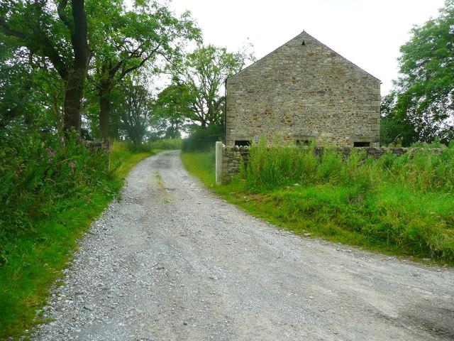 Bridleway ofn driveway to Lowerhornber