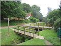 TQ1448 : Bridges over Milton Brook, Westcott, near Dorking by Malc McDonald