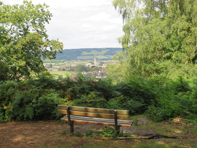 Bench with a view over Dorking