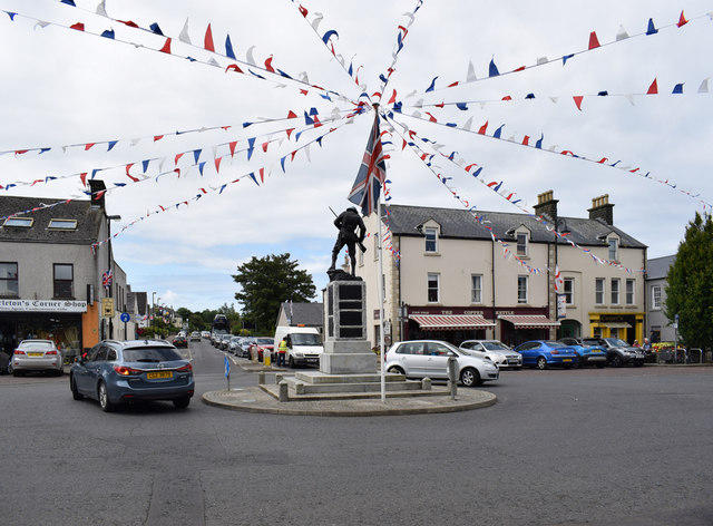 Flag and bunting, Bushmills