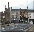 SJ8990 : Building work on Market Place by Gerald England