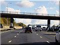 TQ5296 : Clockwise M25, Murthering Lane Bridge by David Dixon