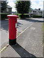 ST1598 : King George V pillarbox on a Gilfach corner by Jaggery