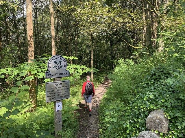 Entrance to Padley Gorge