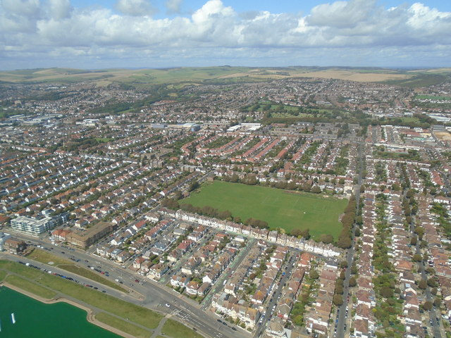 Aldrington from the air