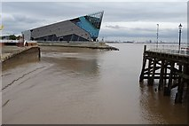 TA1028 : View over the River Hull to The Deep by Philip Halling
