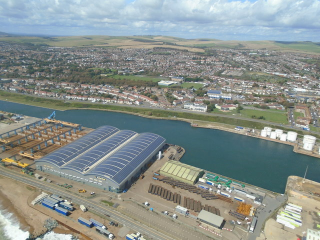 Shoreham Harbour from the air