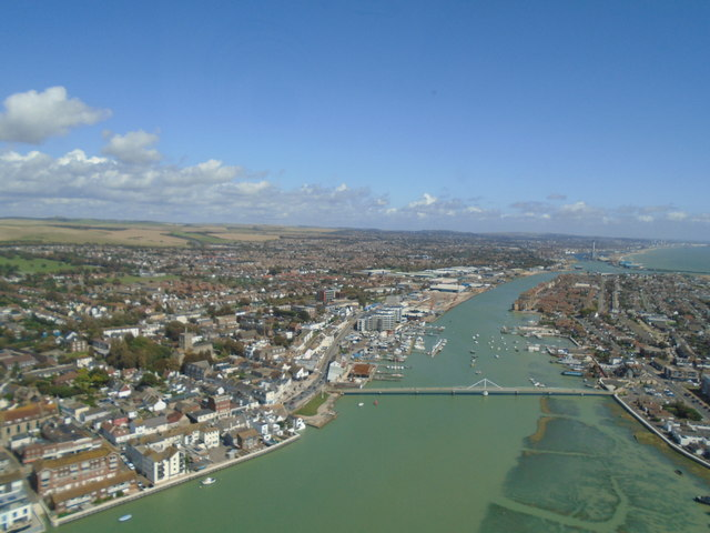 River Adur from the air