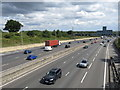TQ4998 : M25 near Abridge by Malc McDonald