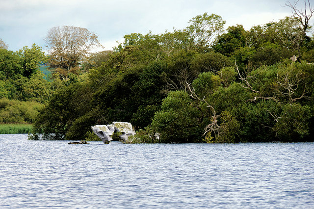 Limestone Rocks at the Tip of a Small Island in Lough Leane