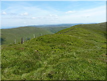 SJ0733 : Cadair Berwyn N ridge burial cairn by Richard Law