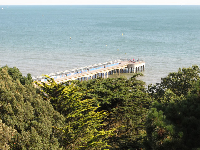 Boscombe pier from Chine Hotel