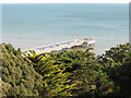 SZ1191 : Boscombe pier from Chine Hotel by David Hawgood