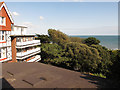 SZ1191 : Chine Hotel, Boscombe, with view down to pier by David Hawgood