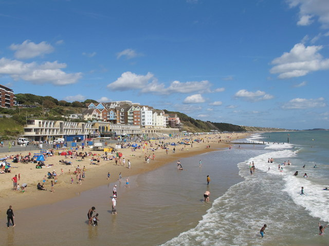 Boscombe beach from pier