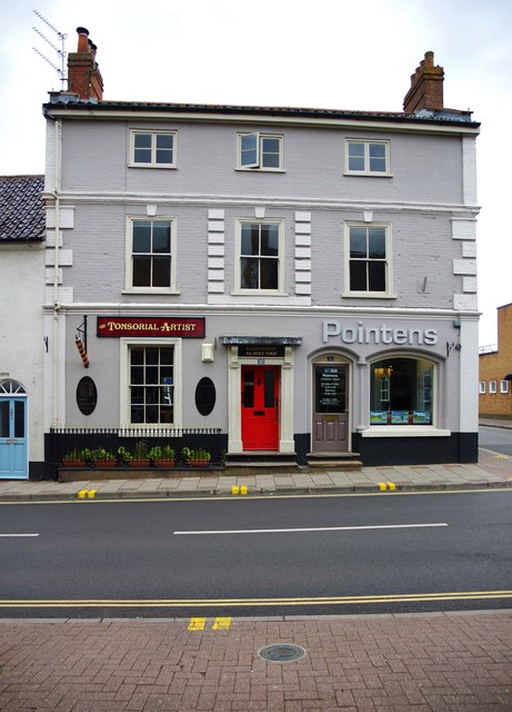 The Tonsorial Artist and Pointens, High Street, Holt, Norfolk