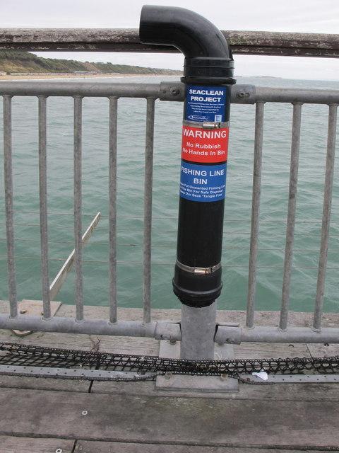 Fishing line bin on Boscombe Pier