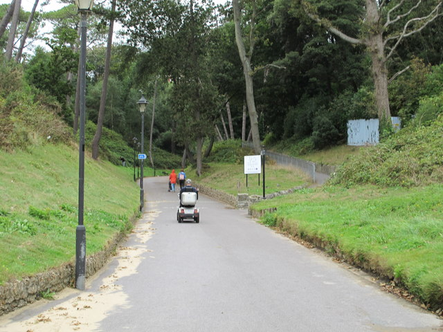 Boscombe Chine Gardens with mobility scooter