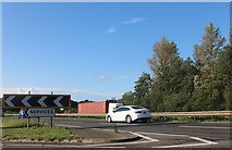 TL1395 : Entrance to the services on the A1, Chesterton by David Howard