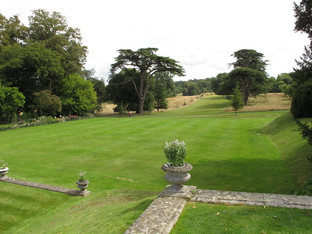 Kingston Lacy lawns and trees with cedars
