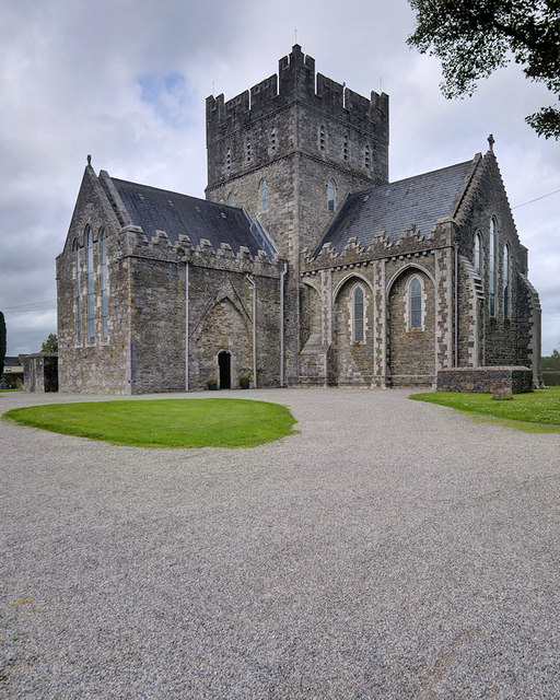 Round Tower And St Brigids Cathedral In Kildare Town