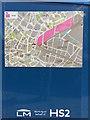 SP0786 : Plan showing HS2 Curzon Street station site, Birmingham by Robin Stott