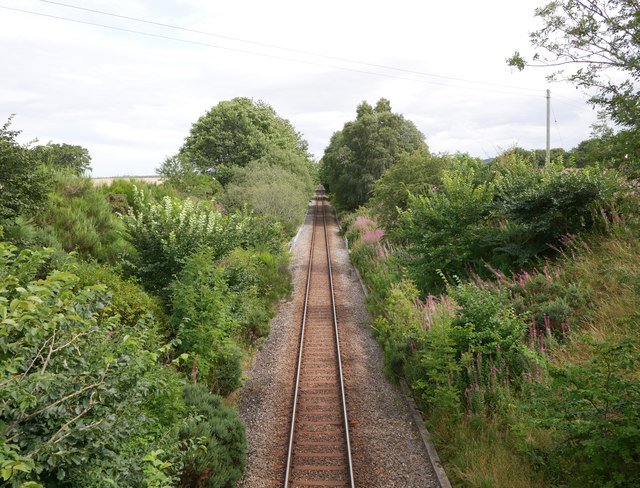 Along the railway, by Boathill