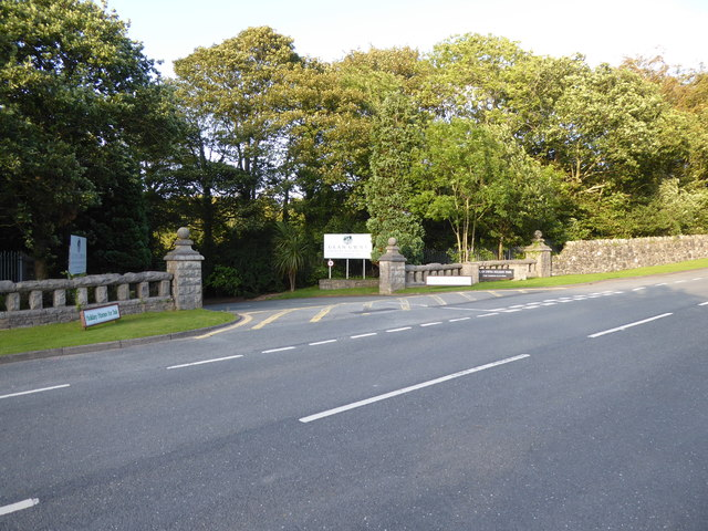The entrance to Glan Gwna Holiday Park