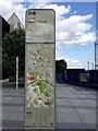 SP0786 : Albert Street totem, Moor Street Queensway, Birmingham by Robin Stott