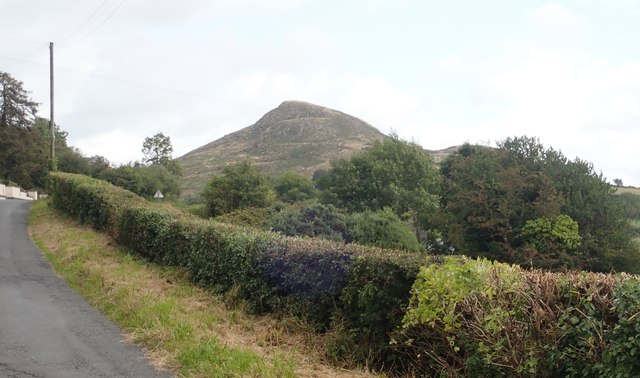Sugar Loaf Hill from the B134 (Mountain Road)
