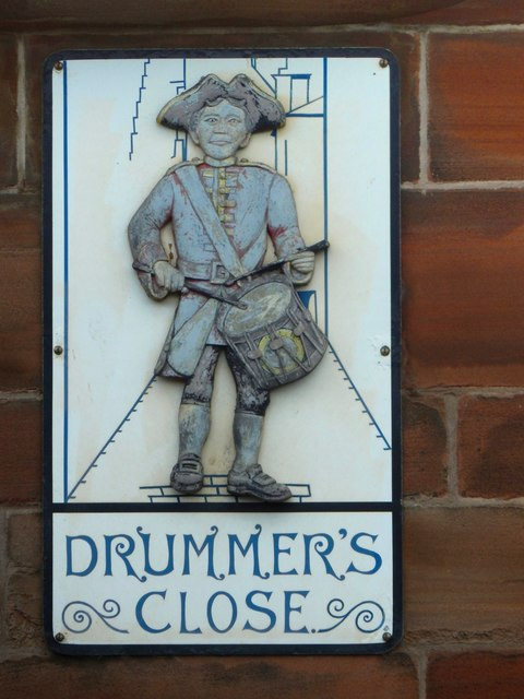 Drummer's Close: plaque
