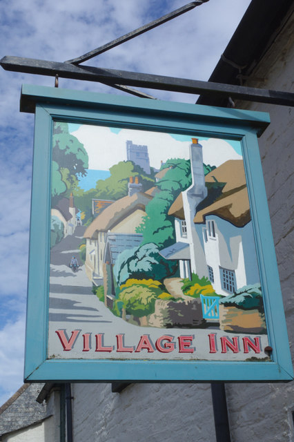 Sign for the Village Inn, Thurlestone