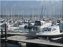 SY6874 : Portland Marina by Peter S