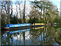 TQ0155 : Moored boats, Wey Navigation by Robin Webster